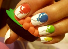 Balloon Nail Art by PetiteTangerine
