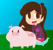 Mabel and Waddles by GEO-DM