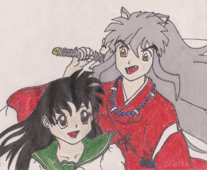 Kagome and Inuyasha by 3lEctric