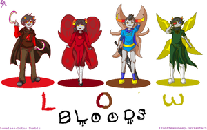 The Homestuck Low Bloods by IronSteamSheep