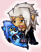 Xemnas Loves Saix Puppy by SharpAnimationInc