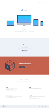 BoxyChat - Website homepage by r2ds