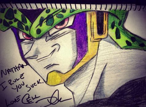Perfect Cell Sketch by D4RKPR1NCE-86