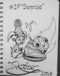 Inktober Day 29: (Surprise) by FeralDoodle