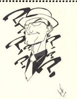 the riddler uncolored by xx510allen