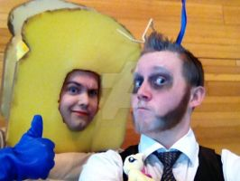 Discord and Powdered Toastman (FanExpo Vancouver) by GingerBaribuu