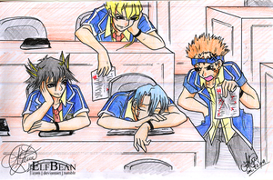 Yugioh 5Ds @ A Morning in School by ElfBean