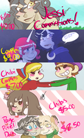 Commisson Prices by SpaceyJessi