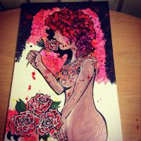 KisSed by a Rose work in progress by IridescentArt1996