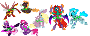 Villain pony adoptables 1 by Sakuyamon