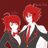 Request no.10 : Yui Rio and Haruto Yuto by MuroaChiFungus