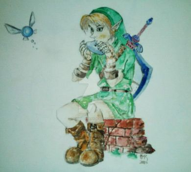 Link and Navi by H3lloGalaxy