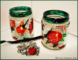 Rose Tea Lights by Bonniemarie