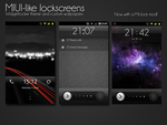 MIUI-like lockscreens. by chrisbanks2