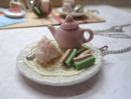 Angle Food Teapot Necklace by CandyChick