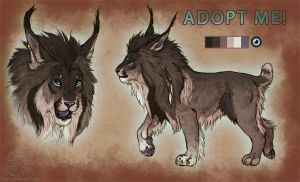 Lion x Lynx Adoptable Auction- CLOSED! by LeoNoy