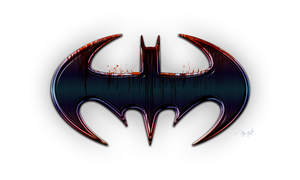 Batman in Blood PNG by KellCandido