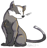 Badger kitty by Ribbedebie
