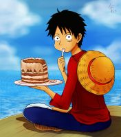 HBD Straw hat Luffy~! by WendyLine