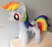 Large Rainbow Dash Plushie by Pinkamoone