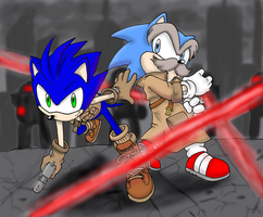 Hedgehog Bros.-Colored by ofShadowndarkness