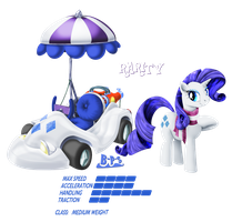 PonyKart - Rarity 2 by Blue-Paint-Sea