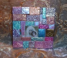 Polymer Clay Madonna Mosaic by ValerianaSolaris
