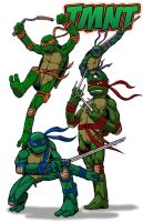 TMNT On the Attack by Godsartist