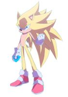 Super Sonic 3 :Sketch: by moxie2D