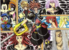 Old Work: Kingdom Hearts 2 fan art (2007) by d13mon-studios