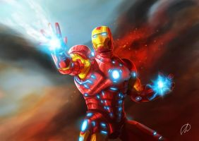 DIBUJO BASADO EN IRON MAN by LANZAestudio