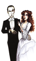 ALW Erik and Christine by HollyTheTerrible