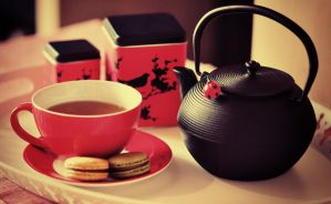 Tea and Macaroons by ralucsernatoni