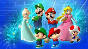 NINTENDO CHARS EDITD WALLPAPER by linkintek06