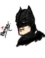 Graphics Tablet Sketch - I'm Batman by prathik