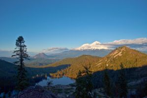 Castle Lake and Mount Shasta by snowman96019