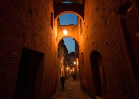 A street of Siena by seianti