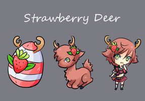 Squiby: Strawberry Deer by Co0kie-Cat