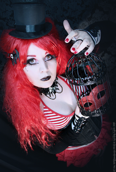 red meets black and porcelain by MADmoiselleMeli