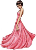 the pink dress .. by Lost-Suspicion