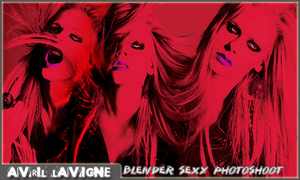 Avril sexy in red by vams