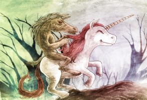 Tikbalang on a Unicorn by avid