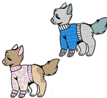 Sweater Pups! by OverlyEnthused