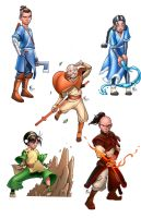 Avatar the Last Air Bender Characters by SiriusSteve