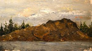Northern Ontario Landscape - Oil Sketch by DeLumine