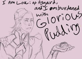 Burdened with Glorious Pudding by kain-was-here