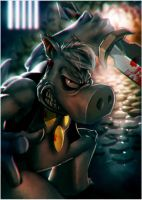 Cerebus fan art by Orathio