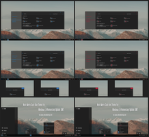 Nost Metro Dark Blue and Red Theme For Windows 10 by Cleodesktop