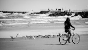 Biking the jetty by BoostedKnight