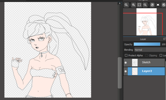 W.i.p. Delinquent Girl by jiexue
